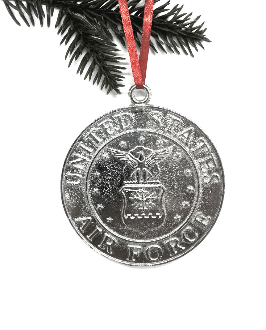 1086 Air Force Military Keepsake Christmas Holiday Ornament Pewter - House of Morgan Pewter