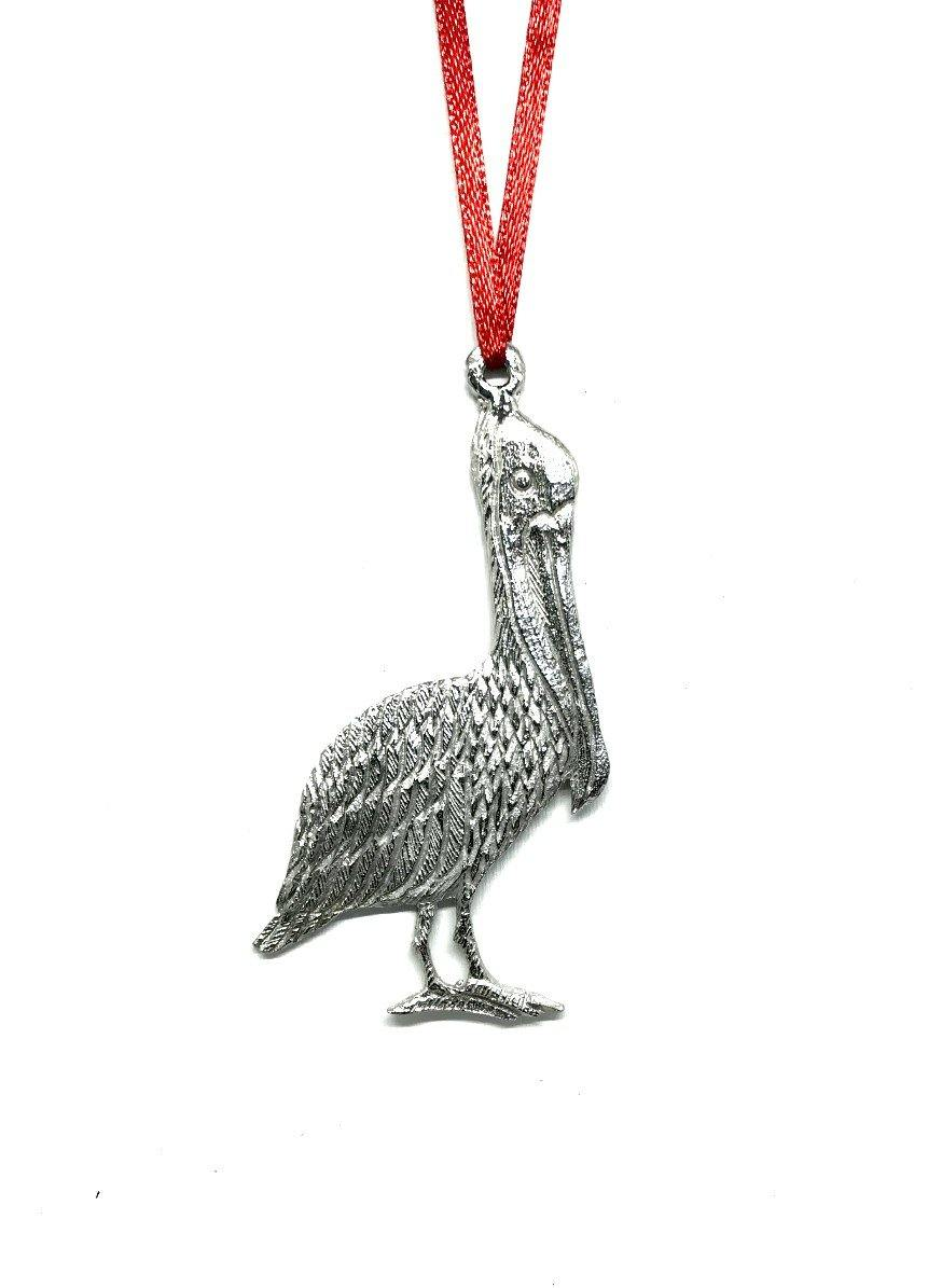1089 Pelican Beach Ocean Island Keepsake Holiday Christmas Ornament Pewter - House of Morgan Pewter