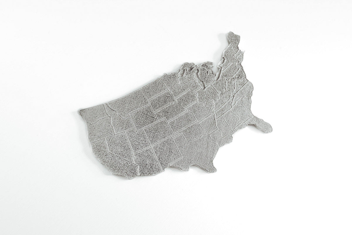 Handmade United States Travel Paperweight Pewter