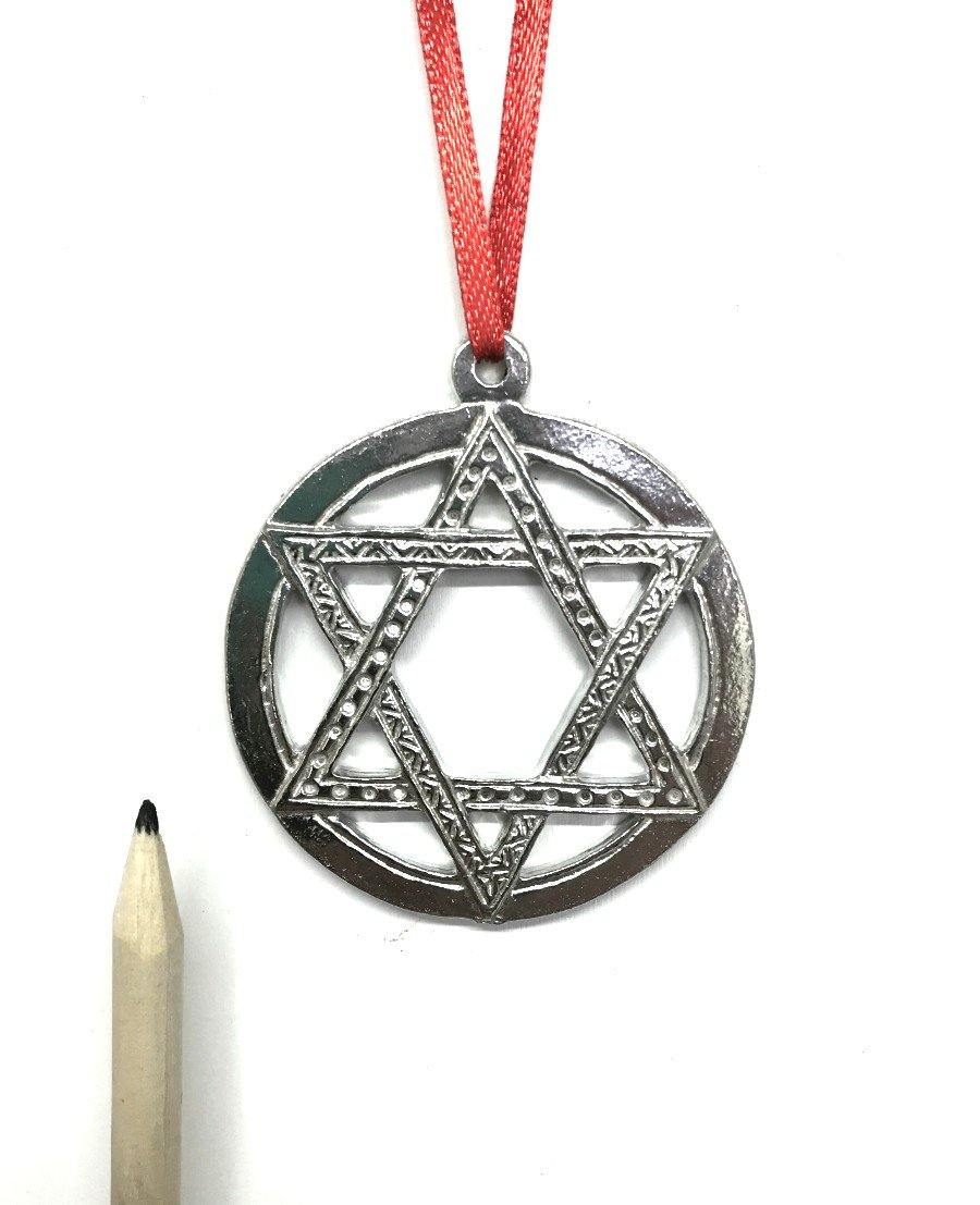 525 Jewish Star of David Hanukkah Keepsake Christmas Holiday Ornament Pewter - House of Morgan Pewter