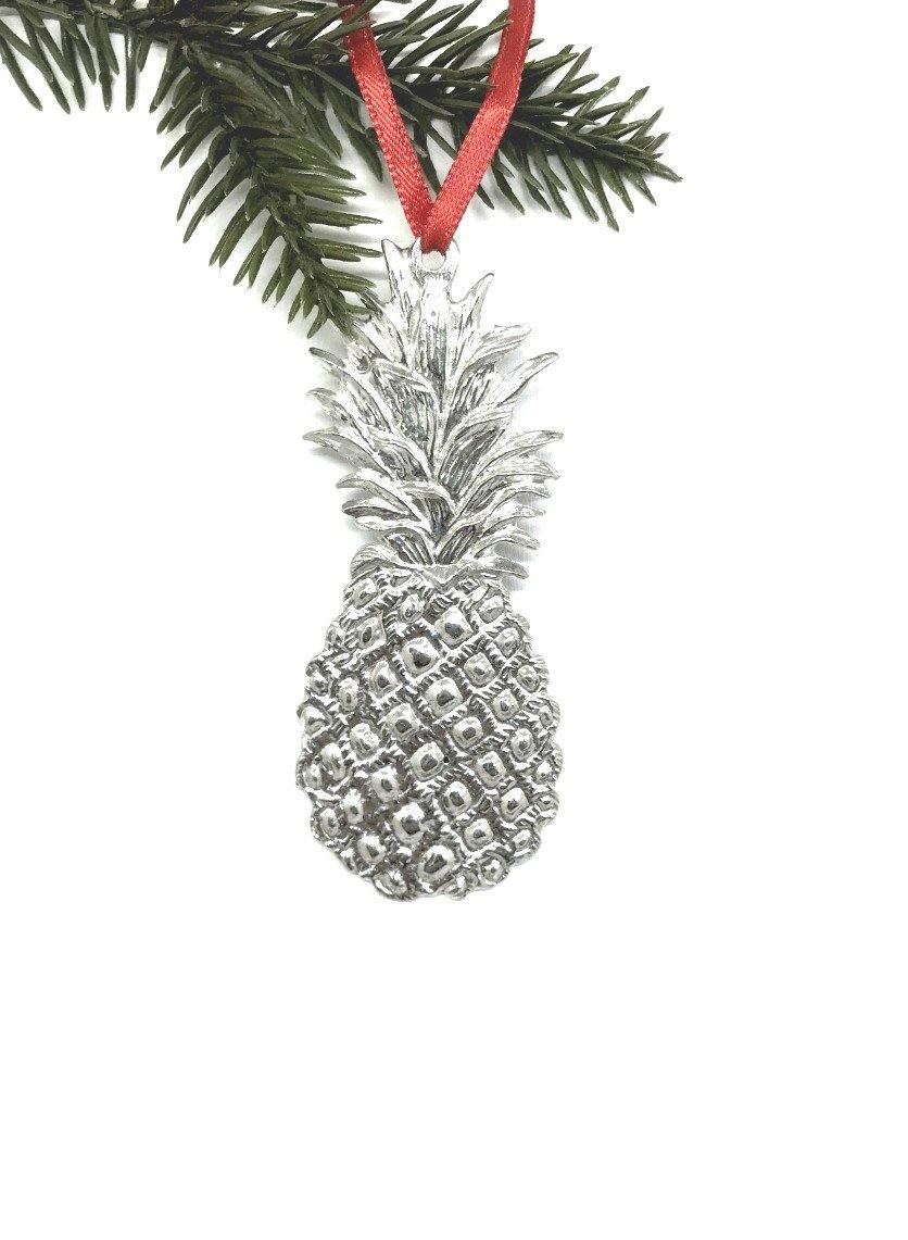 552 Pineapple Southern Hospitality Holiday Christmas Keepsake Pewter Handmade - House of Morgan Pewter