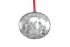 Oval Nativity Wise Men Baby Jesus Religious Holiday Keepsake Christmas Ornament Pewter