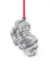 silver santa face ornament