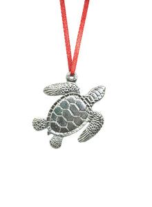 669 Sea Turtle Beachy Ocean Ornament Keepsake Pewter - House of Morgan Pewter
