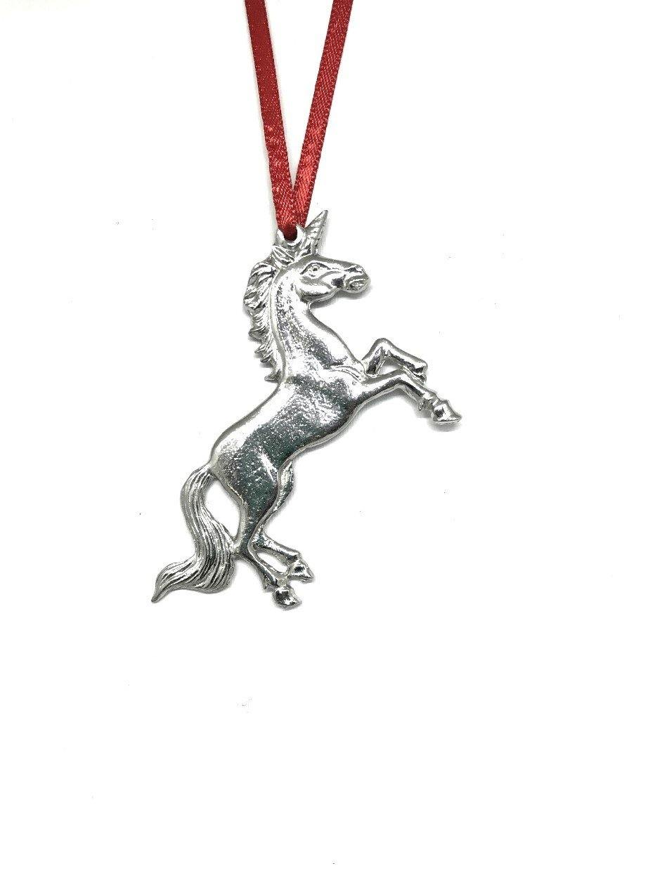 738 Unicorn Keepsake Holiday Christmas Ornament Pewter - House of Morgan Pewter
