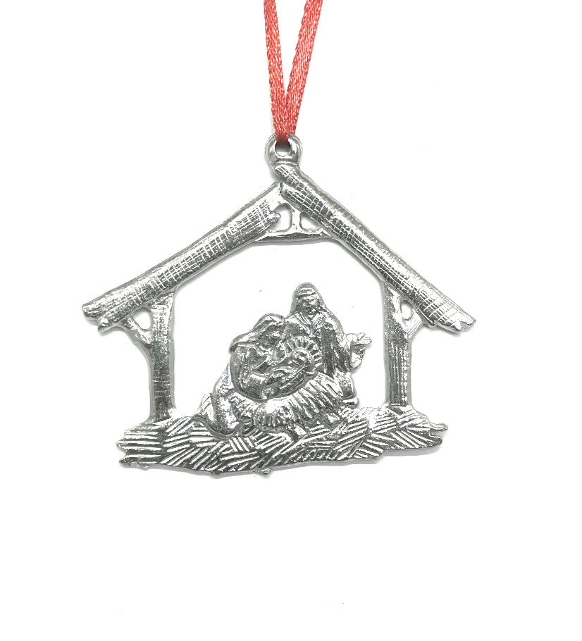 760 Nativity Religious Keepsake Holiday Christmas Ornament Pewter - House of Morgan Pewter