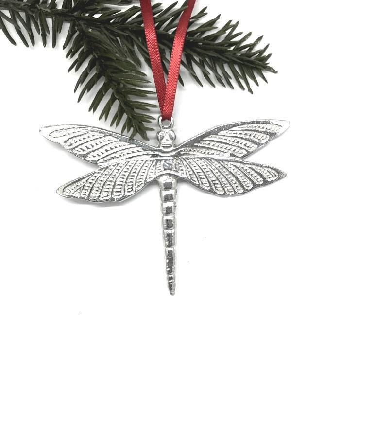 772 Dragonfly Keepsake Holiday Christmas Ornament Pewter - House of Morgan Pewter