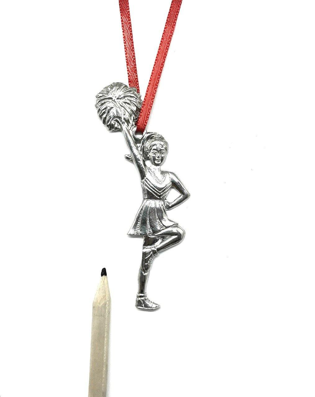 780 Cheerleader Cheer Dance Coach Team Keepsake Christmas Holiday Ornament Pewter - House of Morgan Pewter