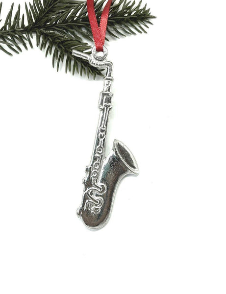 787 Saxophone Sax Musical Instrument Pewter Ornament - House of Morgan Pewter