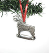 USA Handcrafted Rottweiler Dog Memorial Holiday Keepsake Christmas Ornament Pewter