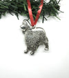 USA Handcrafted Cavalier King Charles Spaniel Dog Memorial Holiday Keepsake Christmas Ornament Pewter
