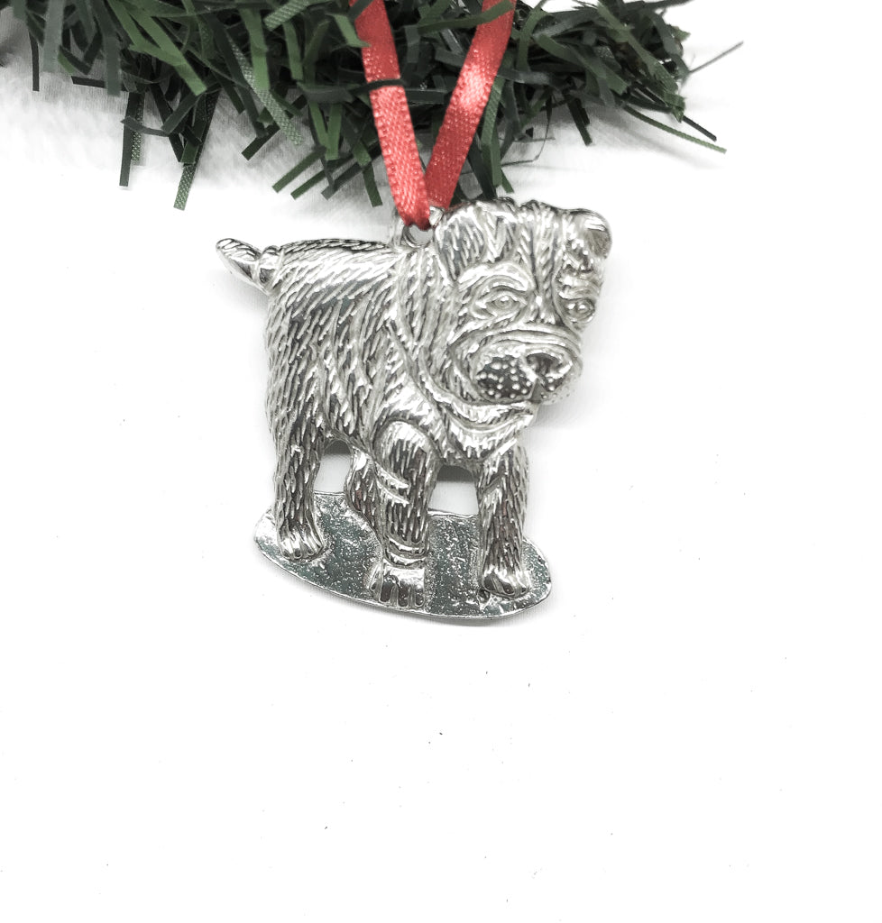 USA Handcrafted Sharpei Dog Memorial Holiday Keepsake Christmas Ornament Pewter