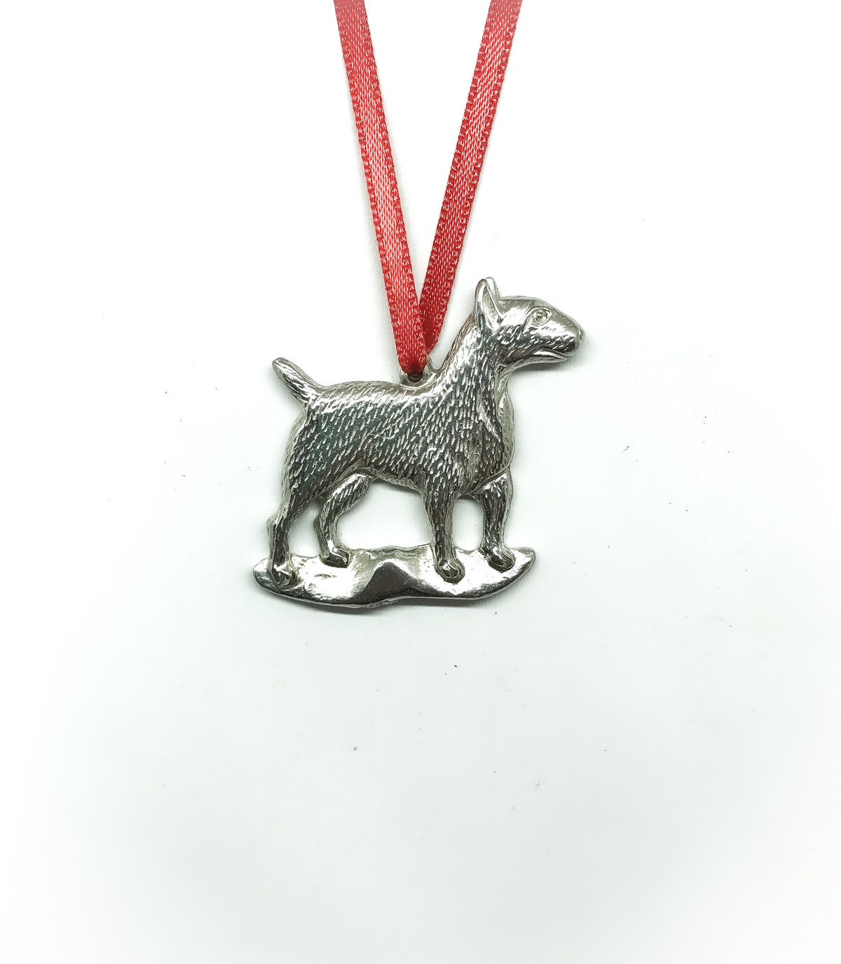 silver dull terrier dog design
