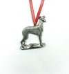 USA Handcrafted Grey Hound Dog Memorial Holiday Keepsake Christmas Ornament Pewter