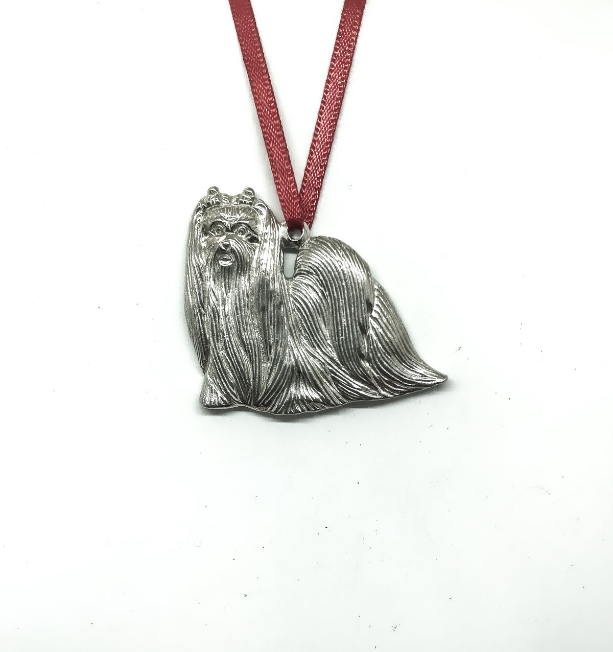 USA Handcrafted Maltese Dog Memorial Holiday Keepsake Christmas Ornament Pewter