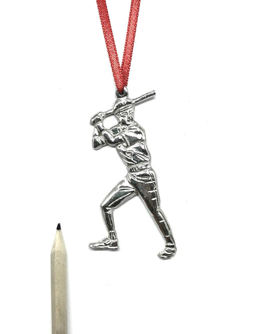 853 Baseball Player Coach Team Keepsake Christmas Holiday Ornament Pewter - House of Morgan Pewter