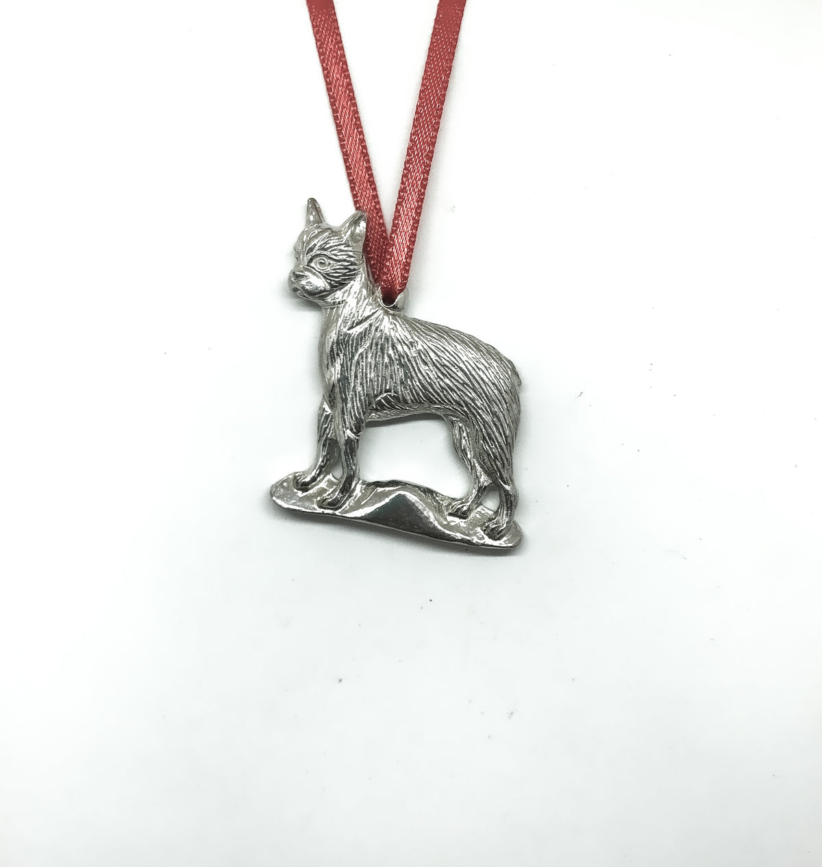 boston terrier silver design