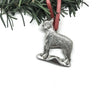 USA Handcrafted Boston Terrier Dog Memorial Holiday Keepsake Christmas Ornament Pewter