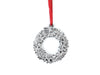 silver wreath ornament made in north carolina