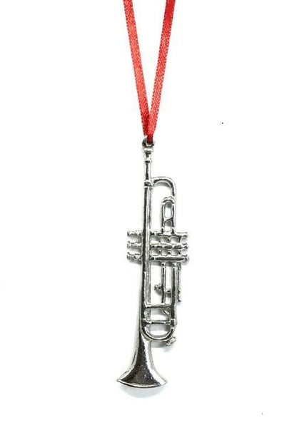 827 Trumpet Musical Instrument Holidays Keepsake Ornament Pewter - House of Morgan Pewter