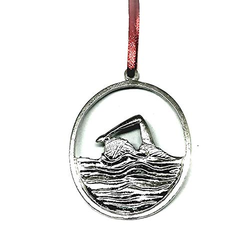 Swimmer Swim Female Male Triathlon Coach Keepsake Christmas Ornament - House of Morgan Pewter