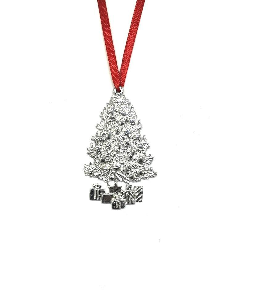 926 Small Christmas Tree Winter Wonderland Christmas Holiday Ornament Pewter Set - House of Morgan Pewter
