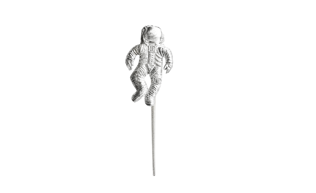 Handmade Astronaut Pewter Cup Cake or Cake Topper - Space Party Favors for Girls Birthday - Bulk Prices