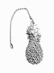 Fine Pewter Accent Ceiling Fan Light Pull Pineapple - House of Morgan Pewter