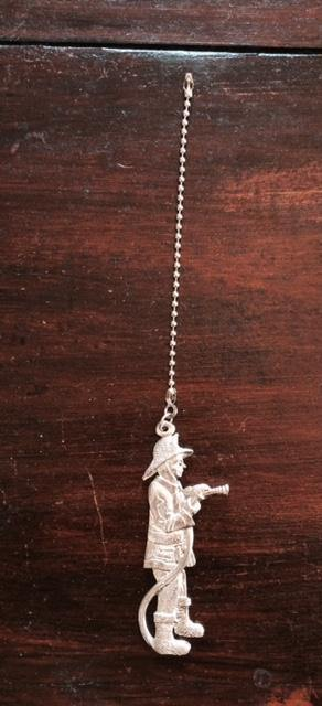 Fine Pewter Accent Ceiling Fan Light Pull Fireman - House of Morgan Pewter