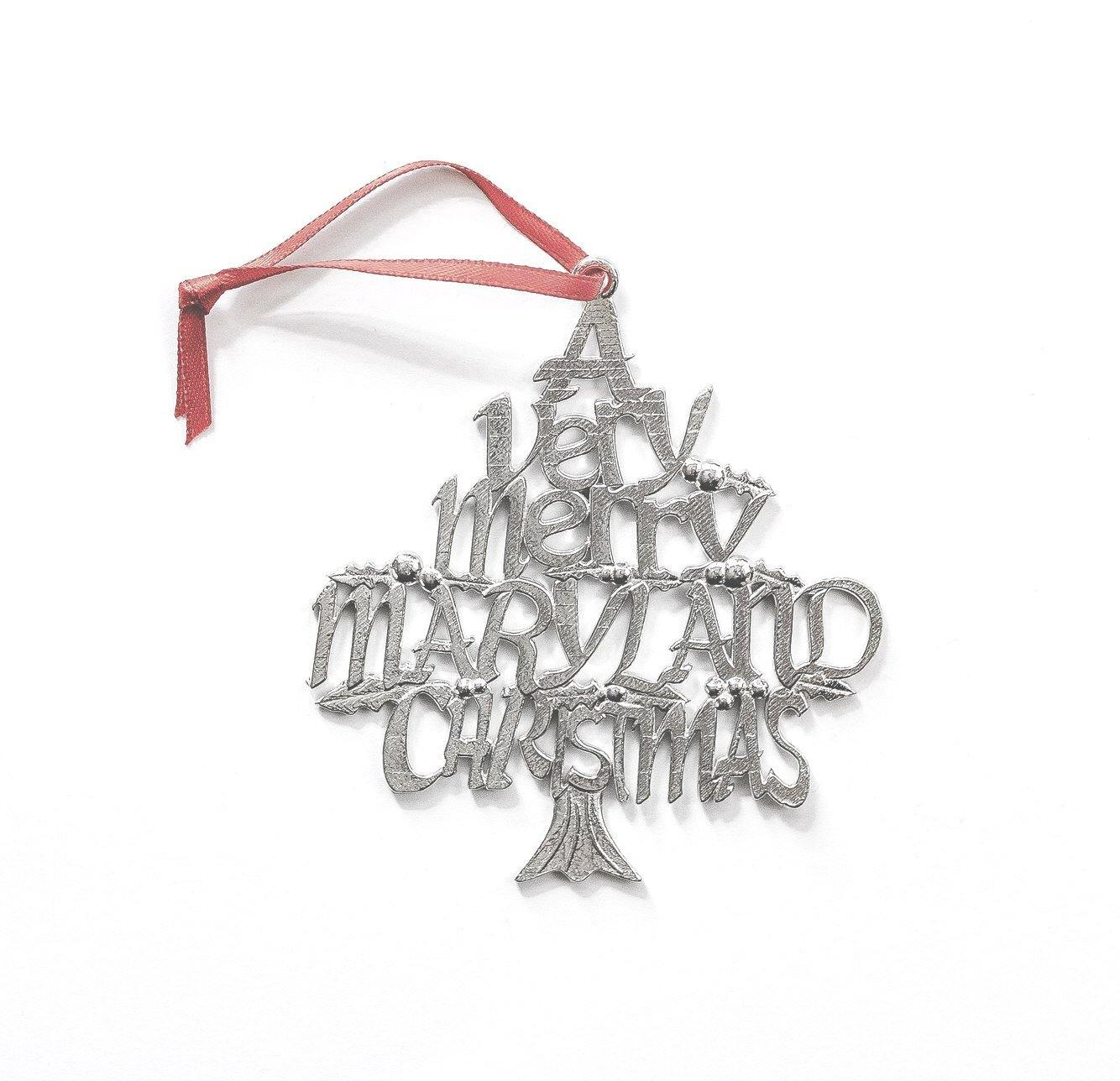 handmade maryland christmas ornament
