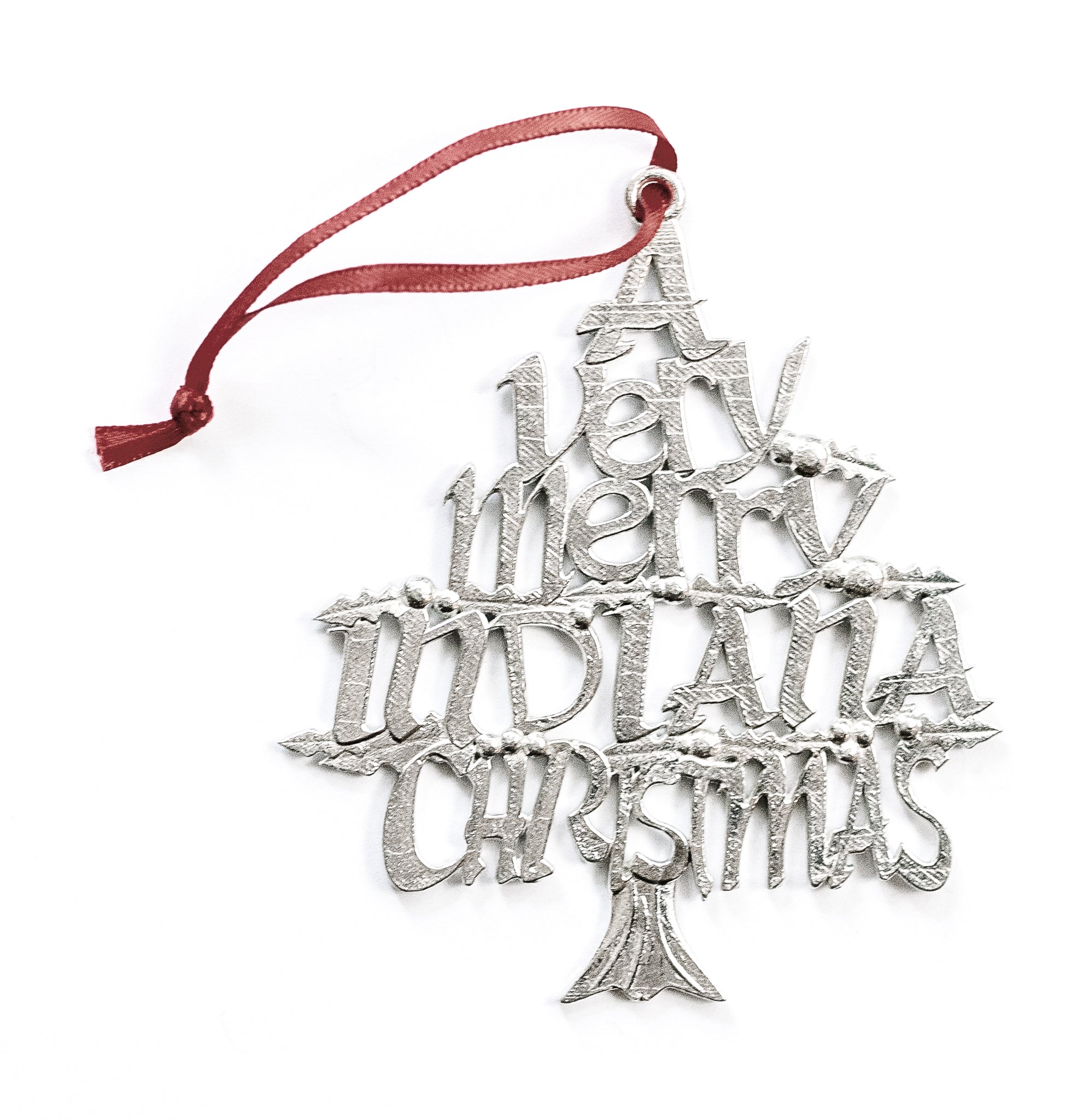 handmade indiana christmas ornament
