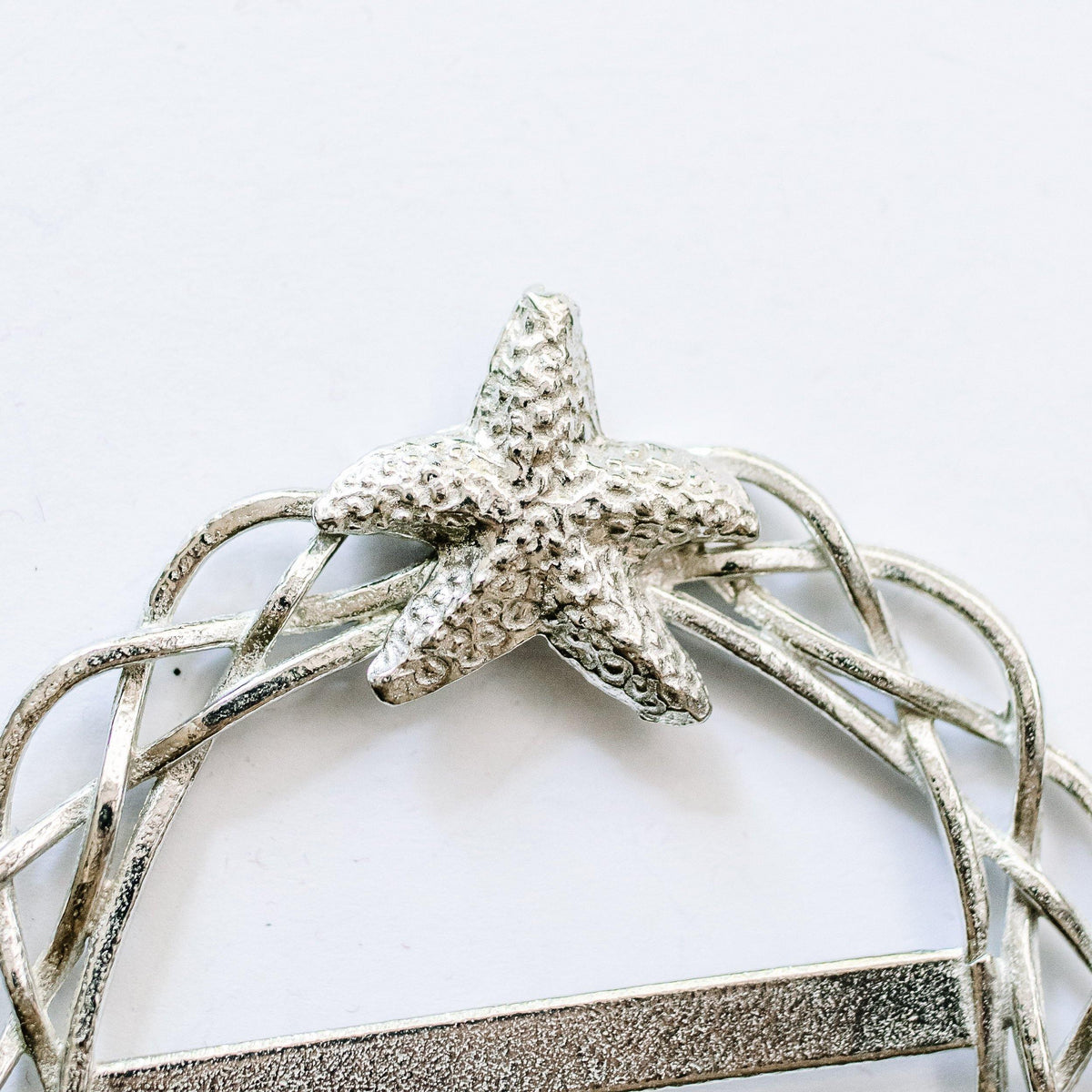 Handmade Pewter Starfish Beach Theme Scarf Ring Jewelry Women Scarves Accessory