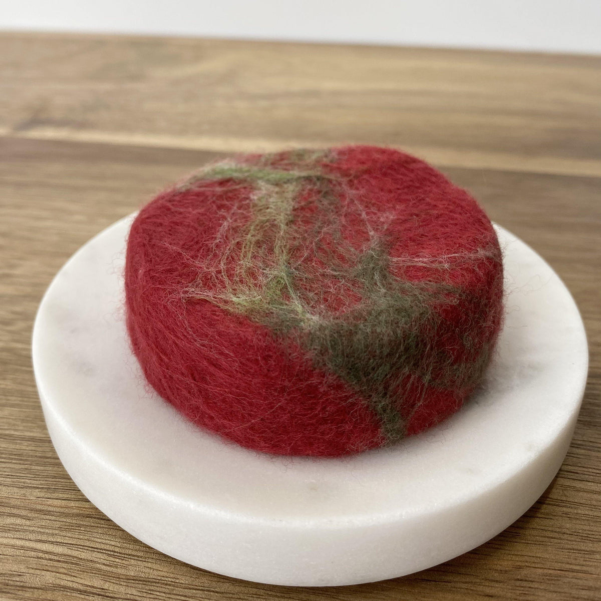 Skin Care Christmas Gift, Handcrafted Holiday Felted Soap Gift