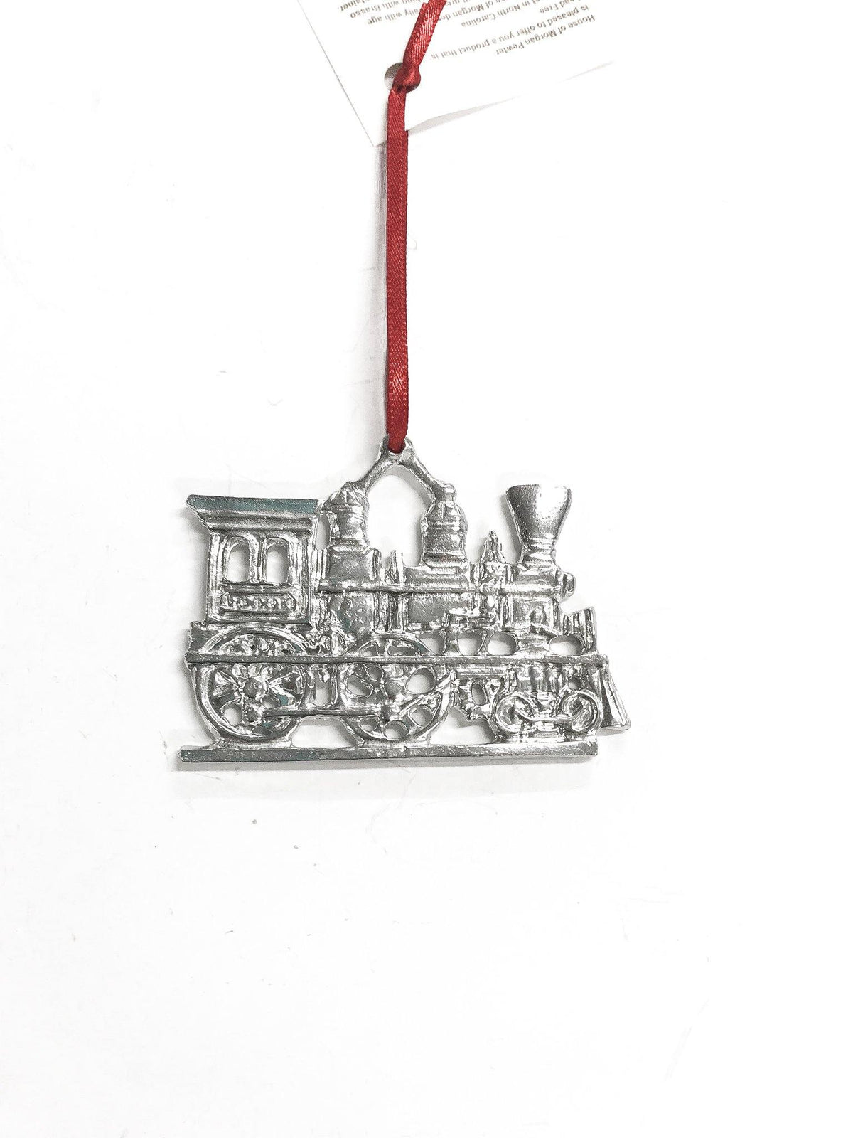 handmade train christmas ornament