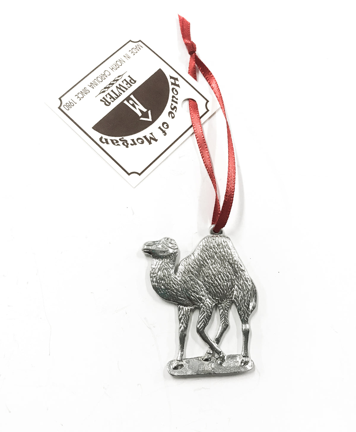 Handmade Pewter Camel Christmas Ornament - Bulk Prices Available