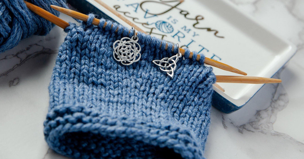 USA Handcrafted Personalized Irish Celtic Theme Knitter Stitch Marker, Maker Gift