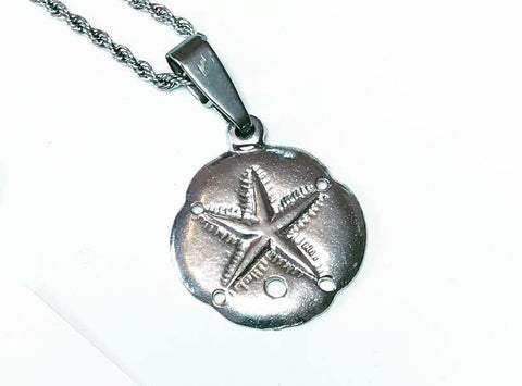 Sand Dollar Pendant Charm Necklace - House of Morgan Pewter