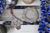 seashell wreath and christmas tree gift set