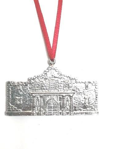 Alamo Texas TX Christmas Holiday Ornament Keepsake Pewter - House of Morgan Pewter