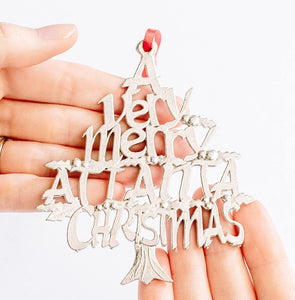 A Very Merry Atlanta ATL Christmas Holiday Keepsake Christmas Ornament Pewter
