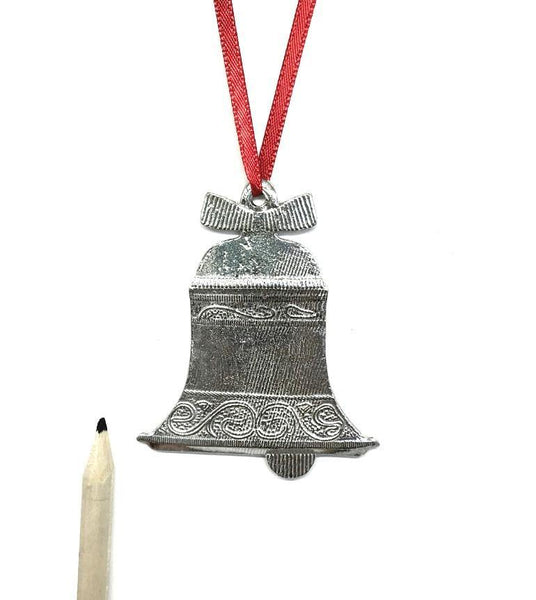 Bell Holiday Christmas Ornament Pewter - House of Morgan Pewter