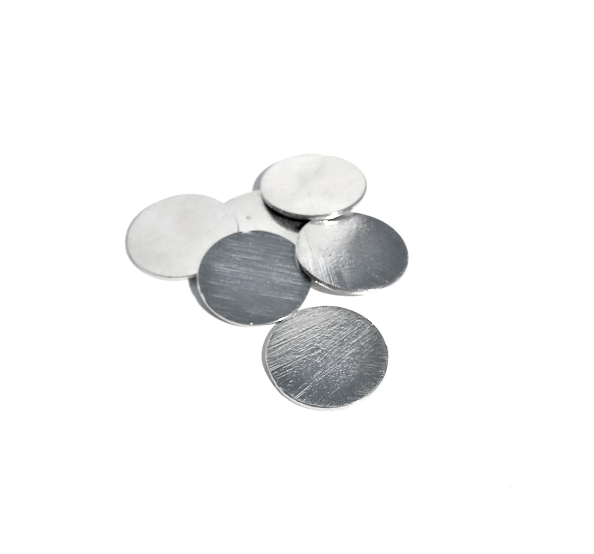 Hand Stamping Pewter Circle Blanks Set of 12 North Carolina Made - House of Morgan Pewter