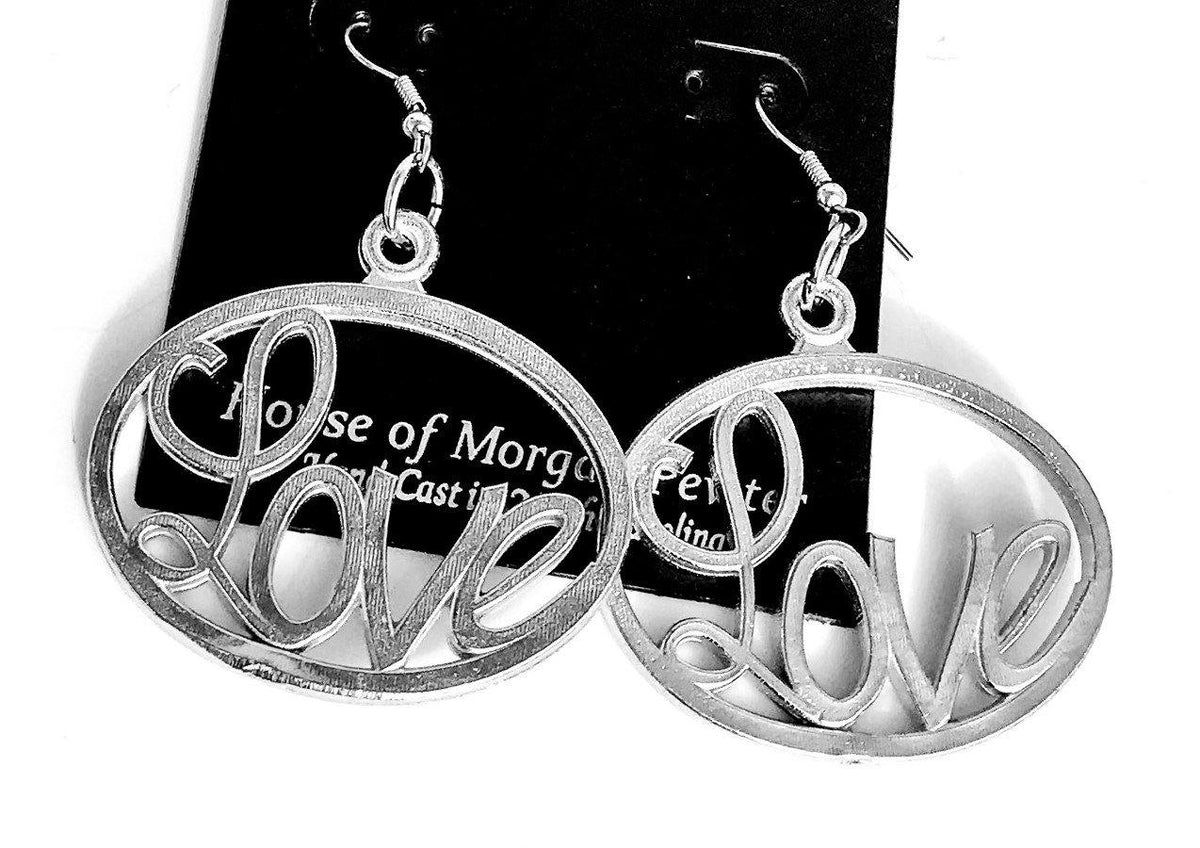 handmade pewter earrings