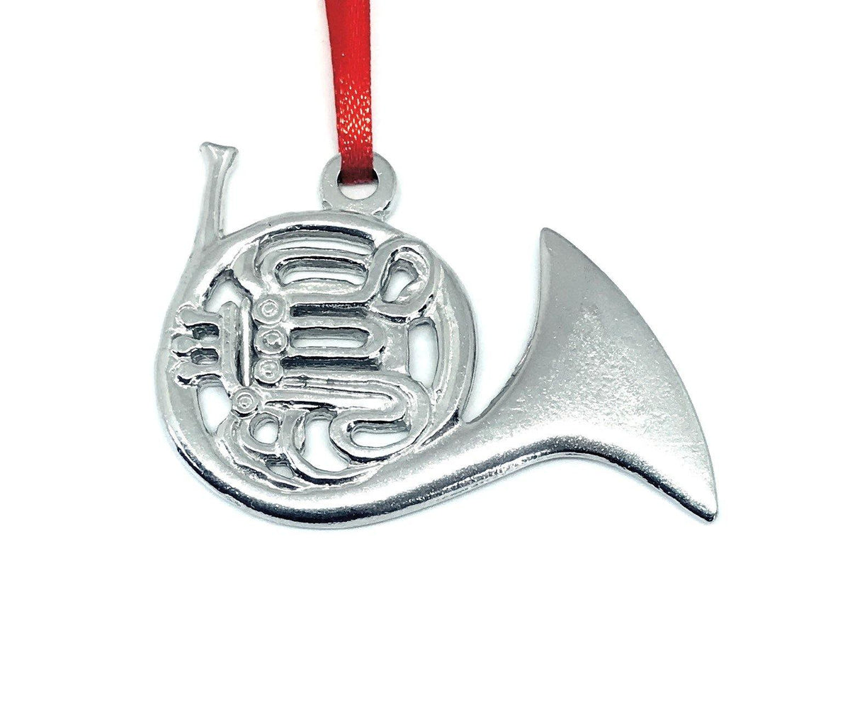 785 French Horn Brass Musical Instrument Pewter Ornament - House of Morgan Pewter