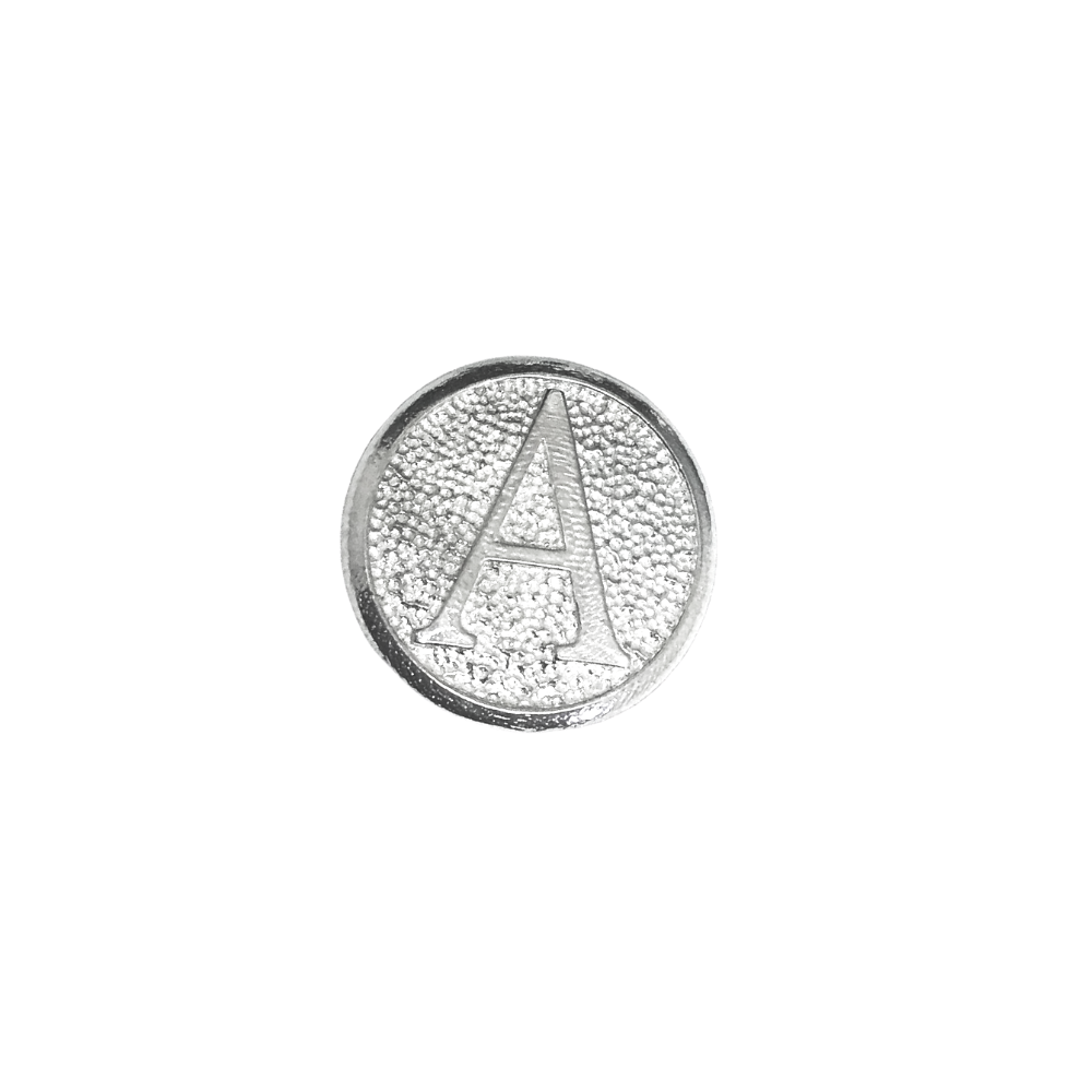 american made golf ball marker silver letter A