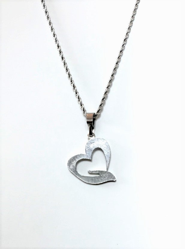 Loving Heart and Caring Hand Necklace - House of Morgan Pewter