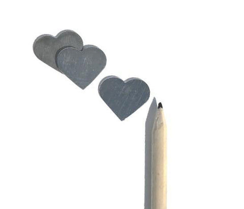 Hand Stamping Pewter Heart Blanks Set of 12 North Carolina Made - House of Morgan Pewter