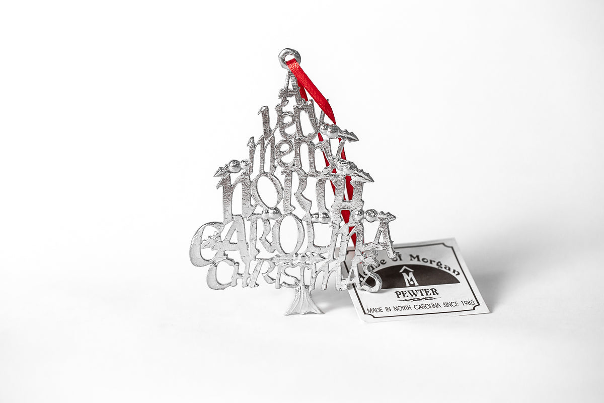 silver nc made ornament