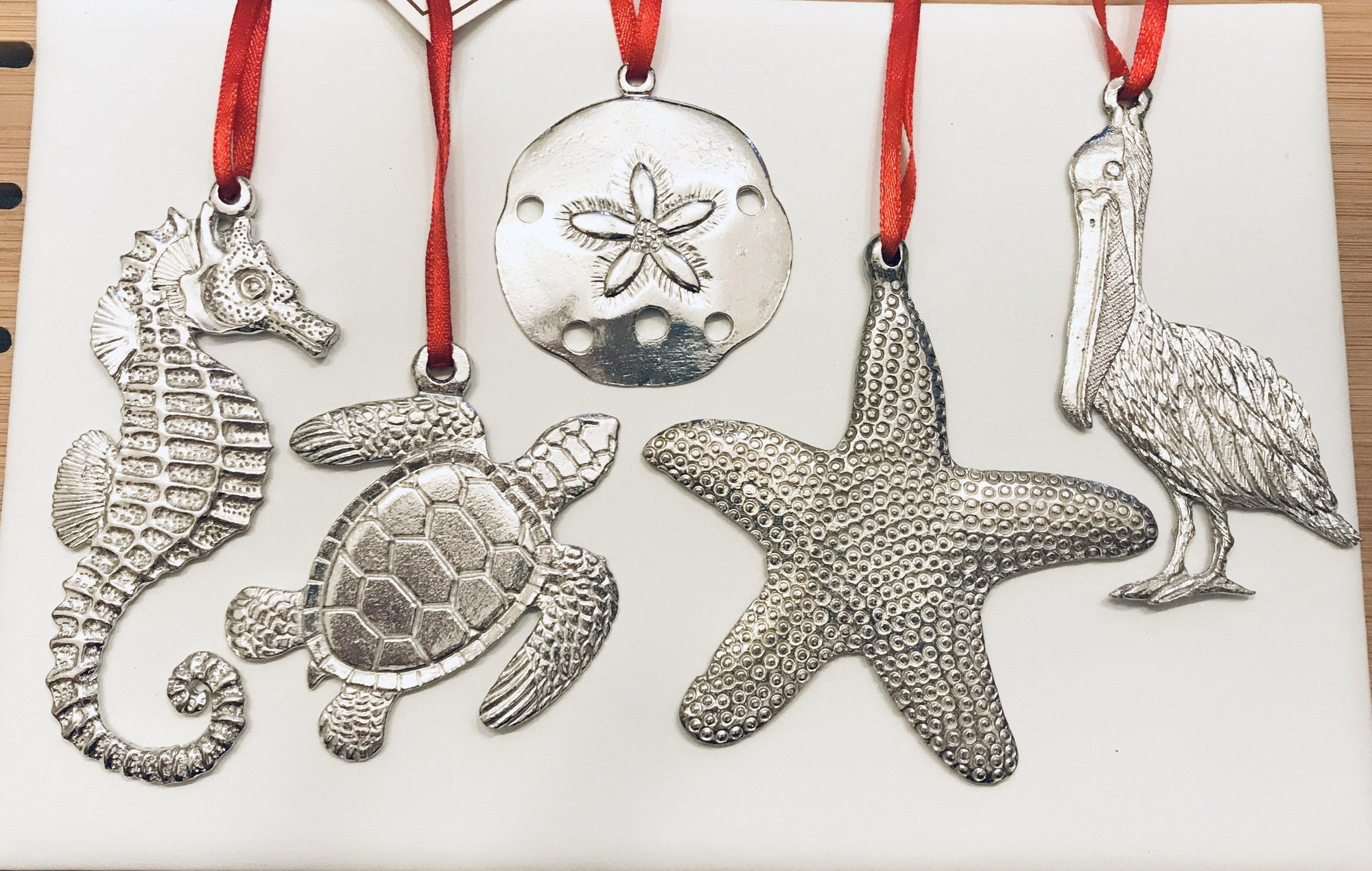 Beachy Ocean Pewter Ornament Set - House of Morgan Pewter