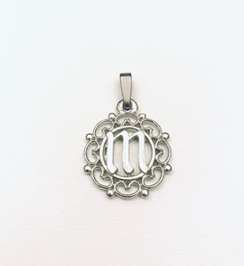 Monogram Initial Charm Pendant Jewelry Pewter - House of Morgan Pewter